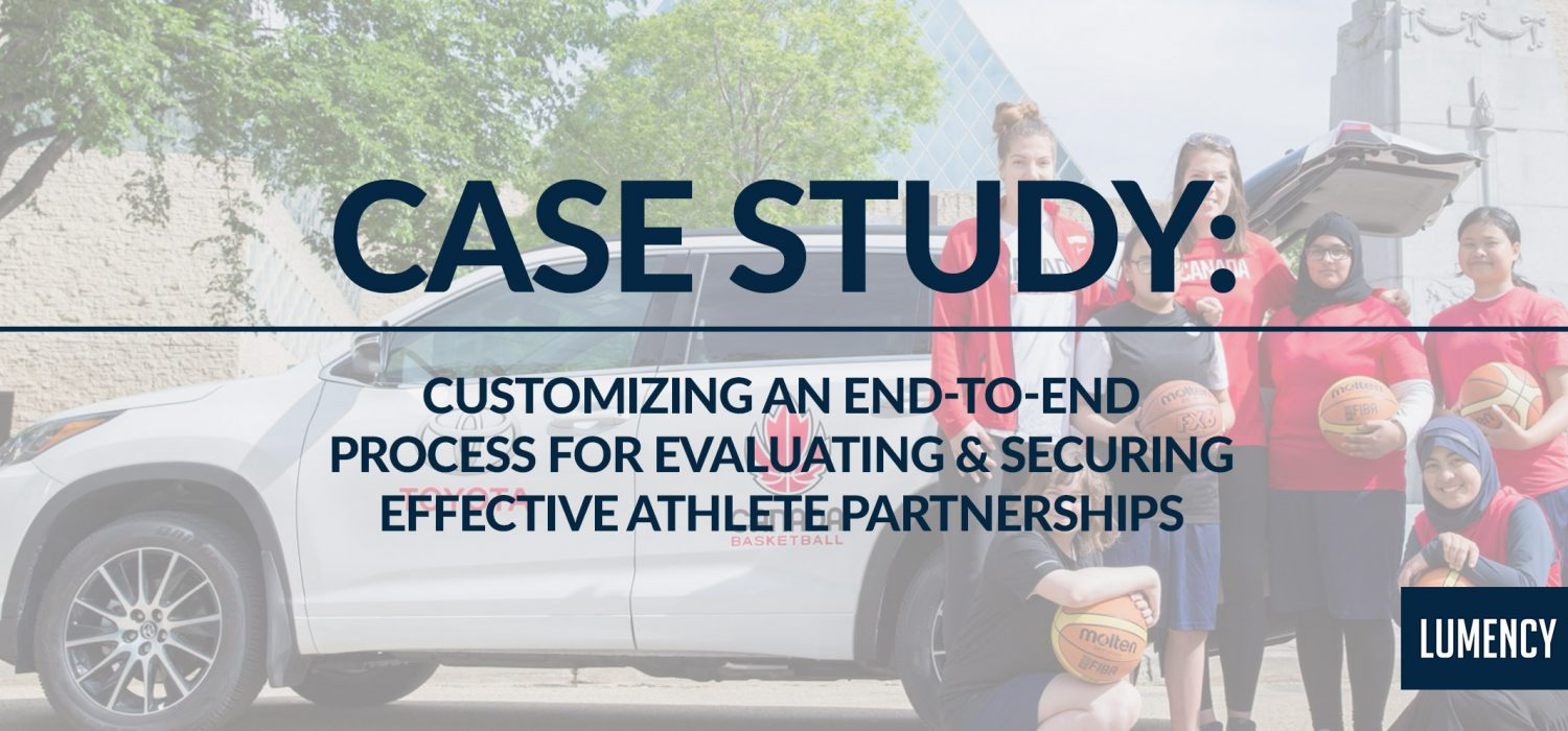 Customizing an End-to-End Process for Evaluating & Securing Effective Athlete Partnerships