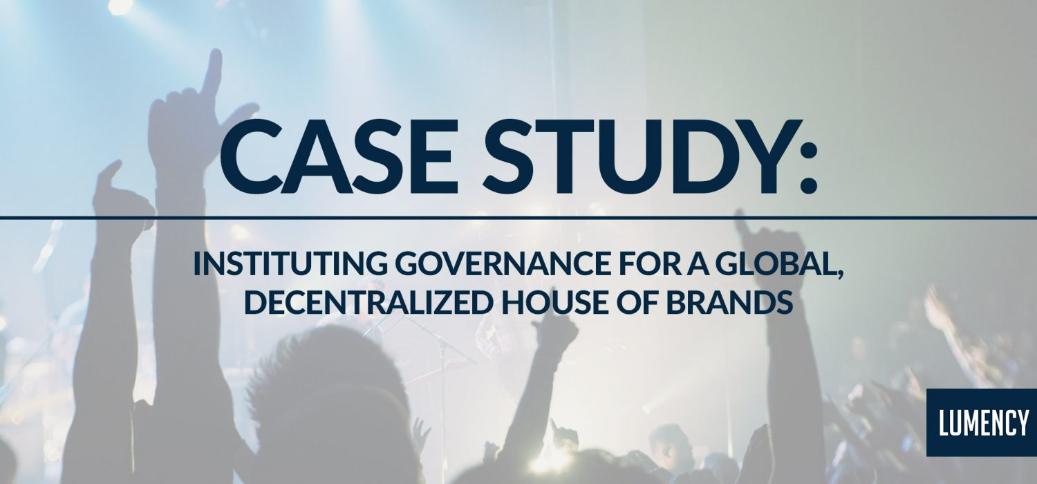 Instituting Governance for a Global, Decentralized House of Brands