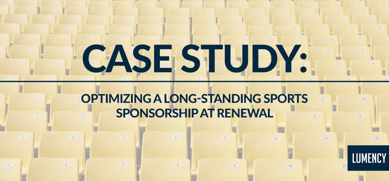 Optimizing a Long-Standing Sports Sponsorship at Renewal